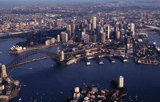 [A picture of Sydney from north]
